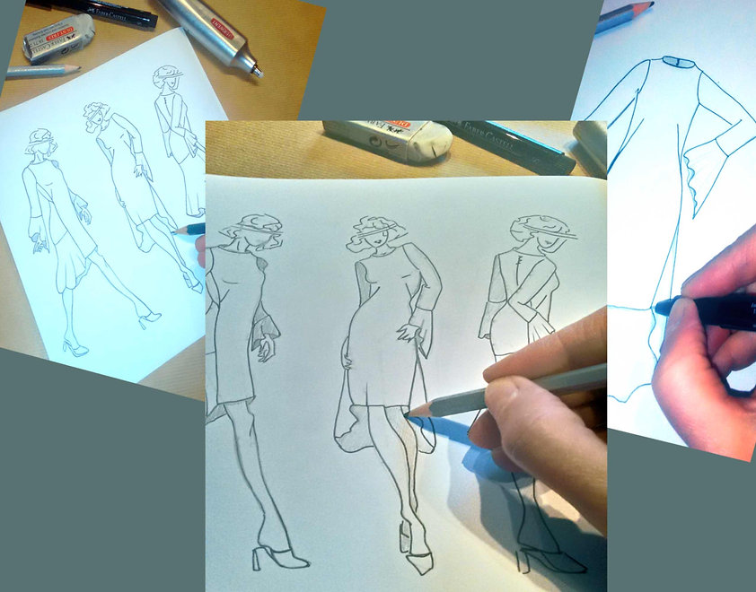 le dessin de mode : l'équilibre entre vos envies, les tendances et  les inspirations d'une passionnée de mode