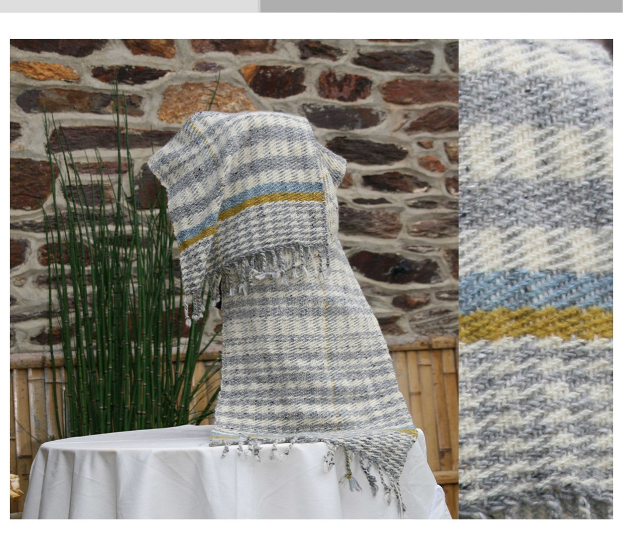 écharpe laine et  mohair