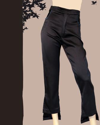 pantalon droit bas asymétrique
