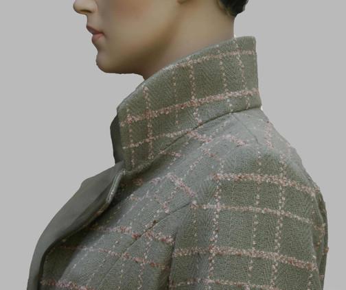 manteau à carreaux col  tailleur