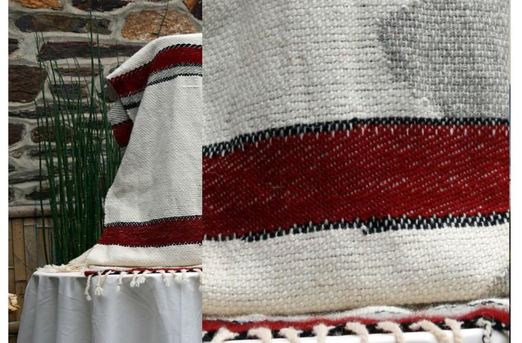 évharpe motof abstrait rouge hermès lain