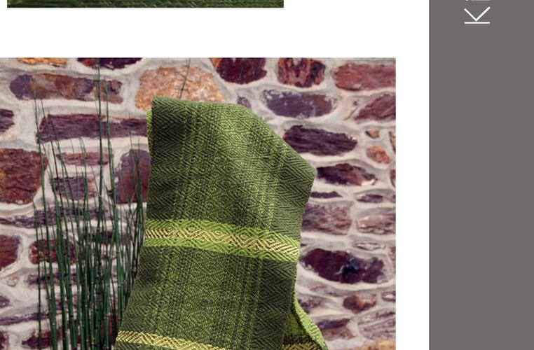 écharpe rayée texturée différents  verts