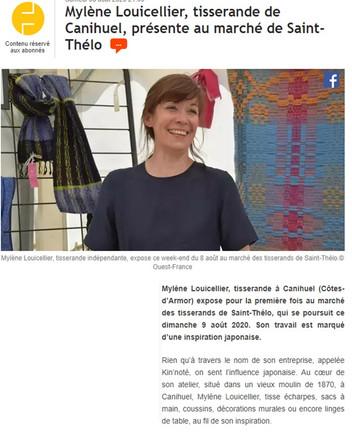 On parle de nous  ! merci  Ouest France, et merci à Mathilde LE PETITCORPS qui a rédigé cet article