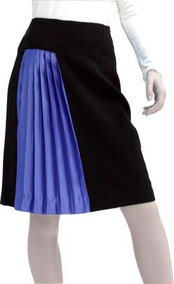 jupe bicolore plissée
