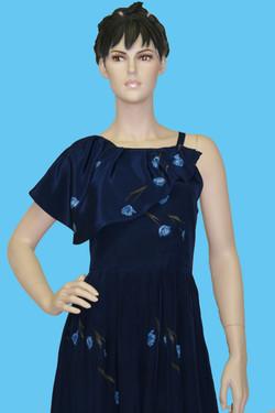robe pure soie à volants