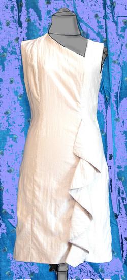 Angelina, robe droite à volant