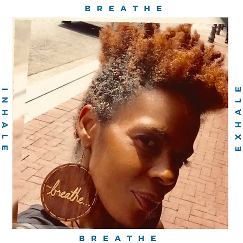 """Wordz Flow™ Earrings - """"Breathe"""""""""""
