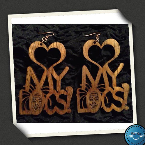 "Wordz Flow™ Earrings - ""Love My Locs"""