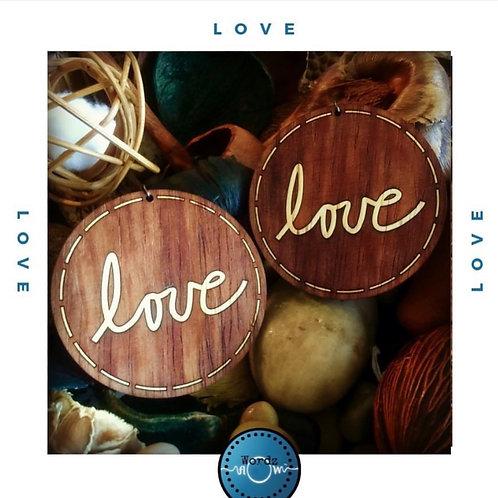 """Wordz Flow™ Earrings - """"Love"""""""
