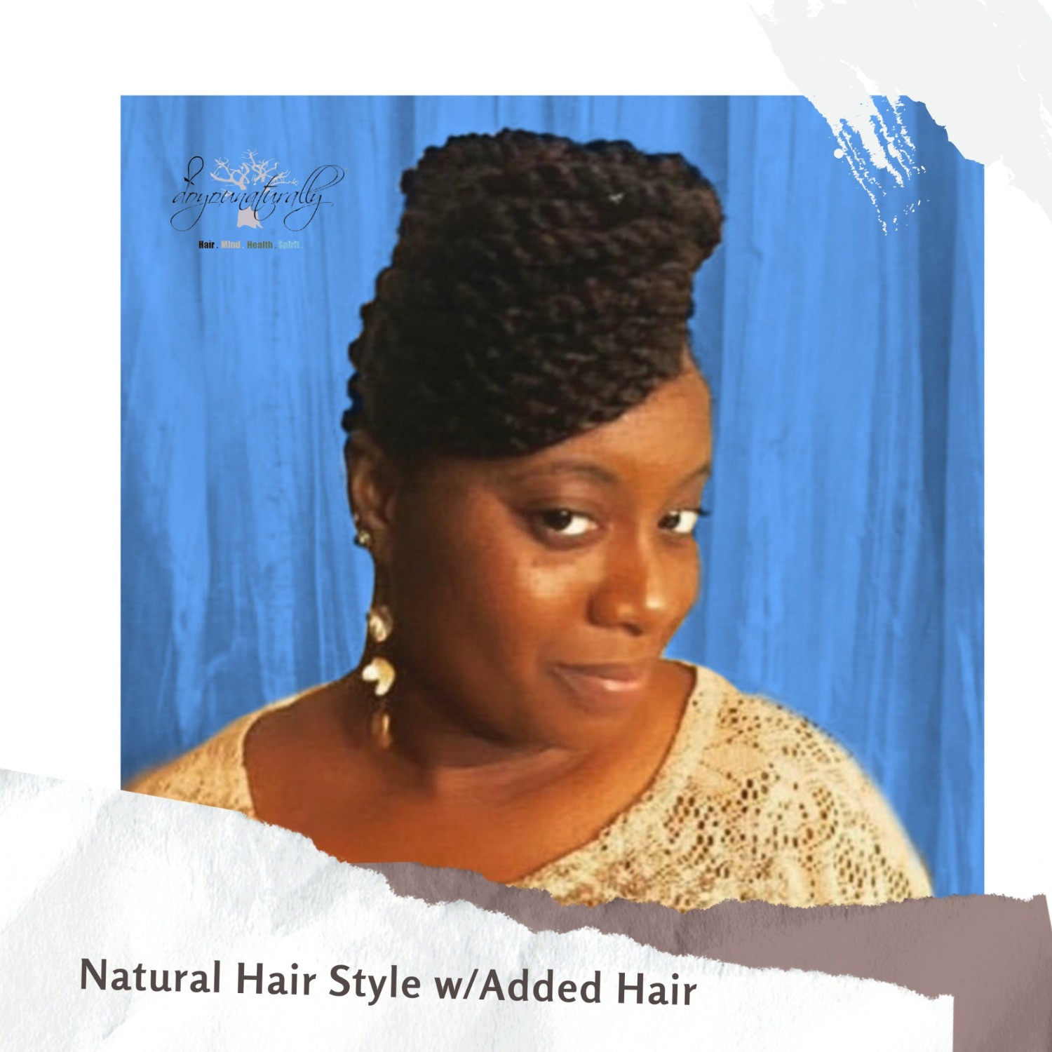 Natural Hair Styling with Added Hair