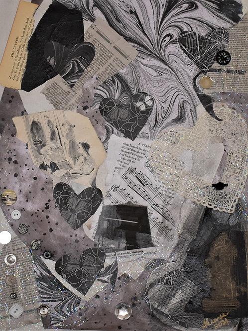 Hearts and Piano by Theresa Polley-Shellcroft