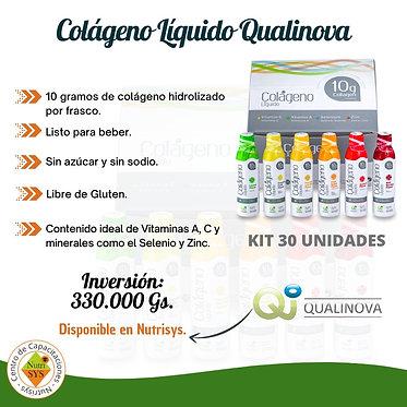 Colágeno Líquido Qualinova. Kit 30 unidades