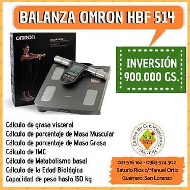 Balanza Omron HBF-514