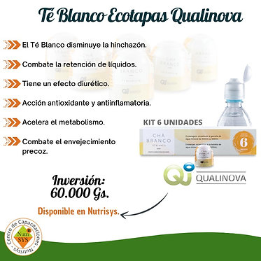 Té Blanco Ecotapas Qualinova. Kit 6 unidades