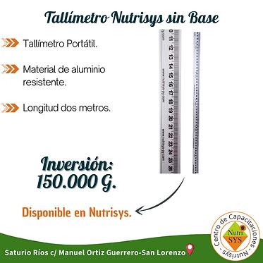 Tallímetro Nutrisys sin Base