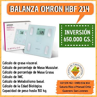 Balanza Omron HBF-214