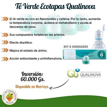 Té Verde Ecotapas Qualinova. Kit 6 unidades