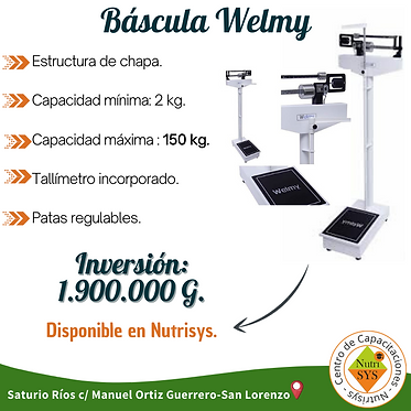 Bascula Welmy. 150 Kg
