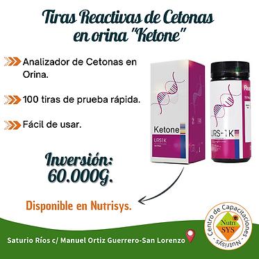 """Tiras reactivas de Cetonas en Orina """"Ketone"""""""