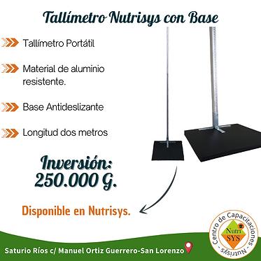Tallímetro Nutrisys con Base