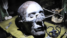 Witchdoctor mummified head