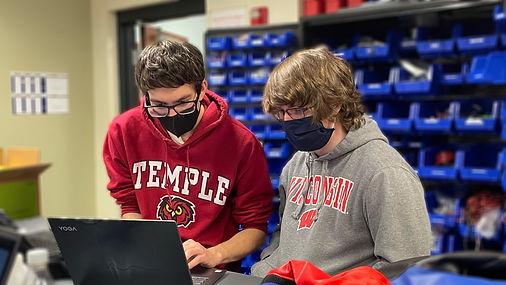 La Salle Robotics_Guys Working at Comput