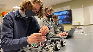 La Salle Robotics_Guys Working on FTC Ro