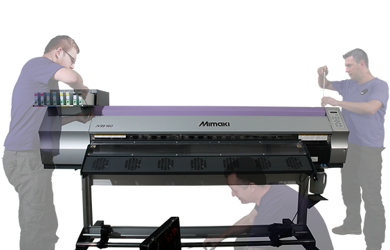 Engineers servicing a Mimaki JV33