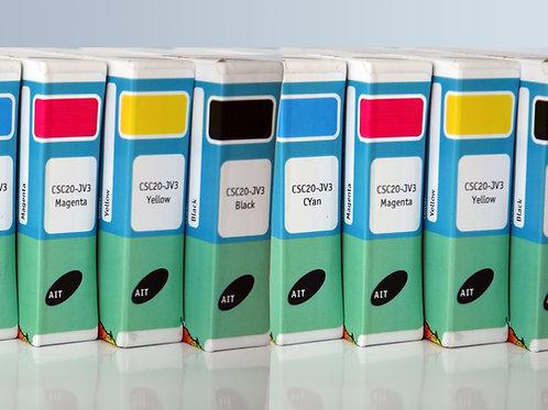 CSC20 2xCMYK (8) JV3 440cc Cartridges