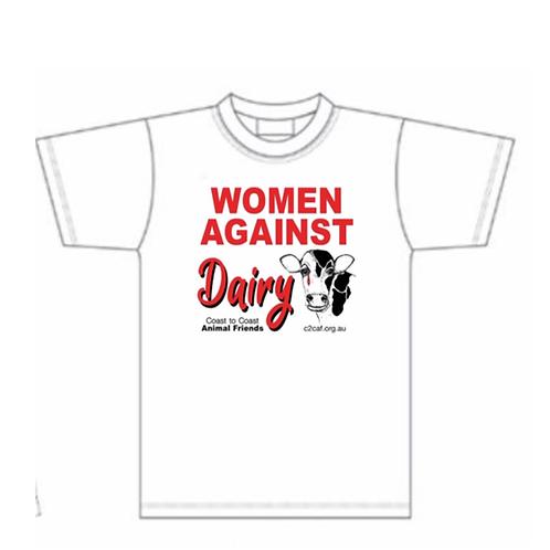 Women Against Dairy Ladies T/Shirt