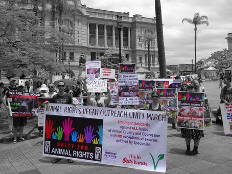 UNITY for ANIMAL RIGHTS: Vegan Outreach Rally 2018