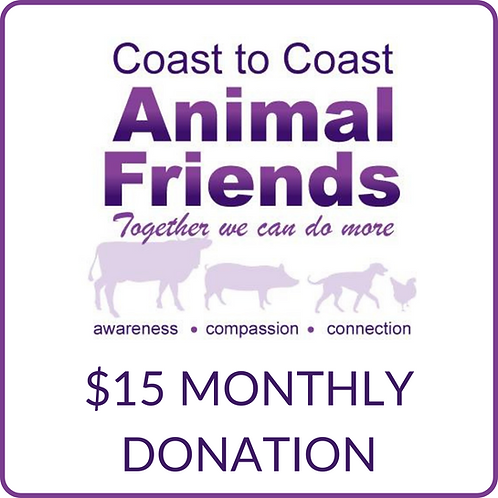 C2CAF $15 Monthly Donation
