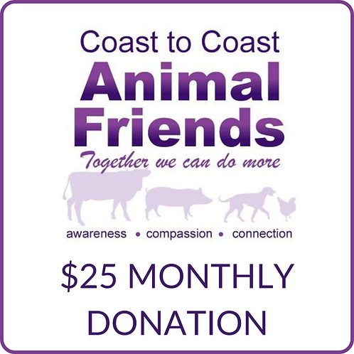 C2CAF $25 Monthly Donation