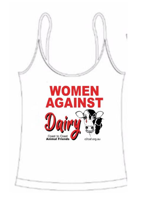 Women Against Dairy Ladies Singlet