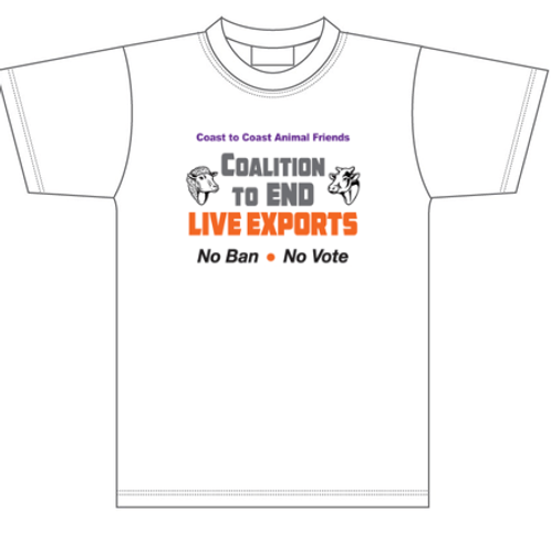 Coalition to END LIVE EXPORTS unisex T/Shirt