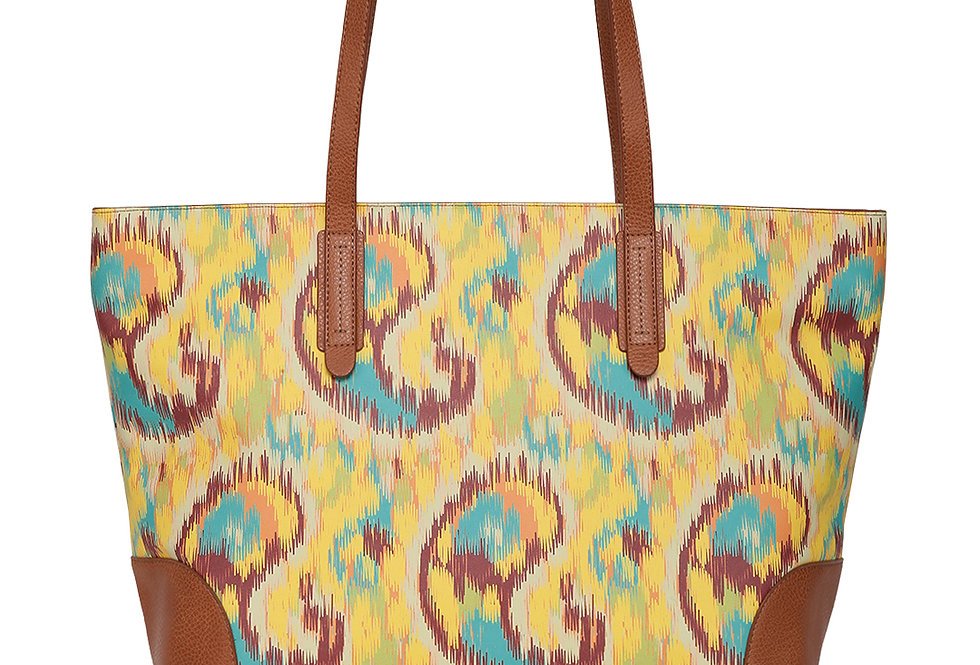Ikat Print Shopper Bag