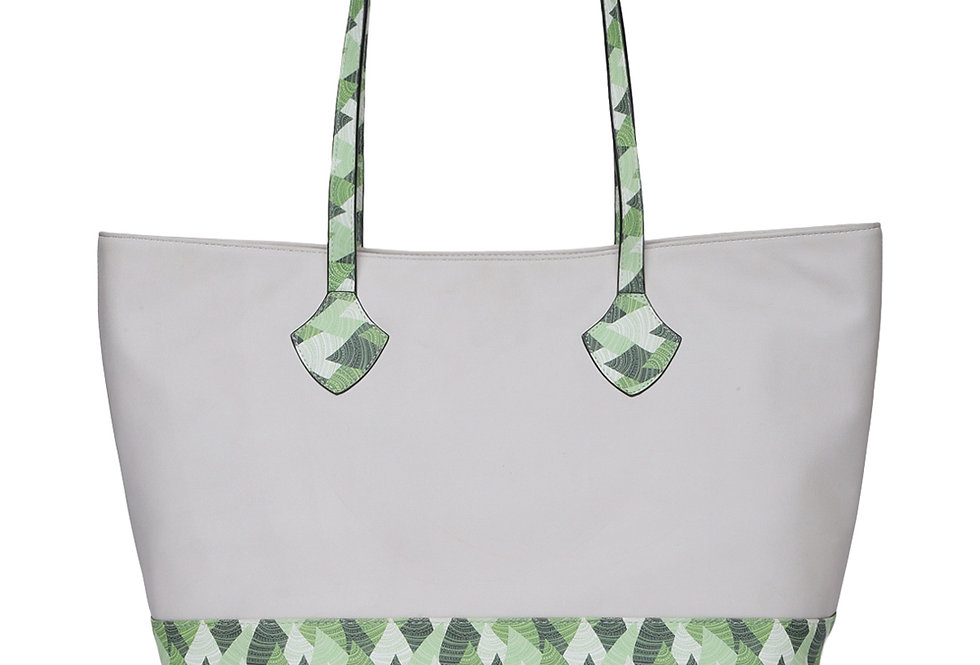Abstric Print Tote