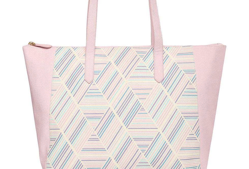 Soft Strip Print Tote bag