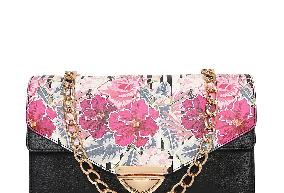 Painted Floral Clutch