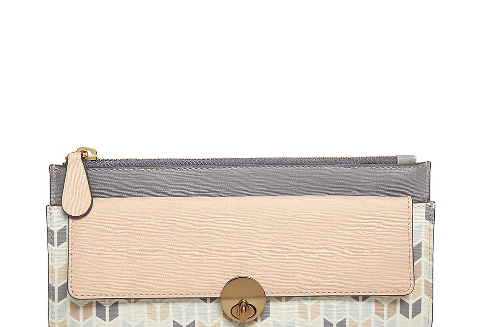 Thick Charvon Print zipper wallet