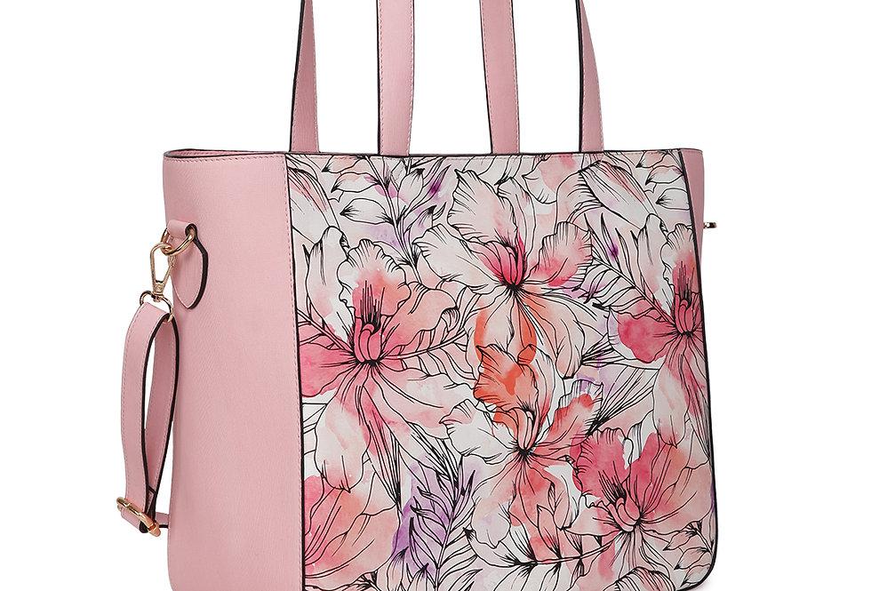 Women Pink Printed Handheld Bag