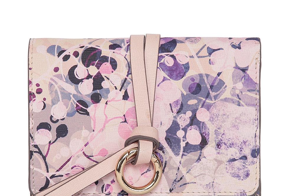 Magic Flower Print Tri Fold Wallet