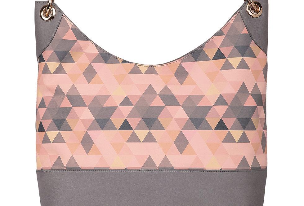Pink Printed Tote Bag