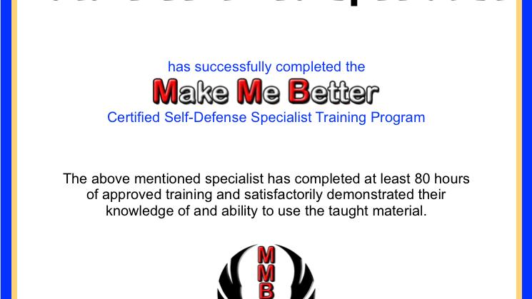 Certified Self-Defense Specialist