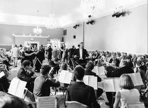 Dario Salvi conducts the Imperial Vienna Orchestra at a Viennese ball.  Photo credit: Phil Barnes