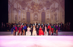The cast of Opera Festival on Ice, 2018.  © Royal Opera House Muscat / Willy Bietak Productions