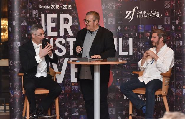 Dario Salvi in a Q&A session in Zagreb.  Photo credit: Marko Pletikosa