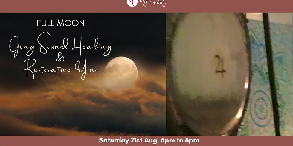 Gong Sound Healing & Restorative Yin - Full Moon