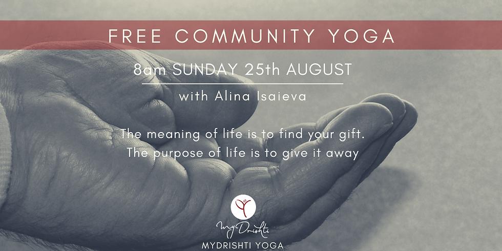 Free Community Yoga - AUGUST