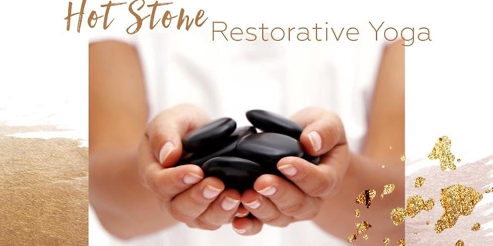 Hot Stone and Restorative Yoga